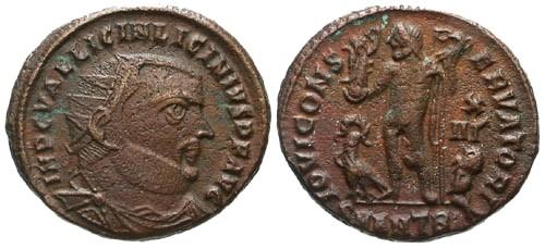 Ancient Coins - VF/VF Licinius I AE 3, Antioch mint / Jupiter