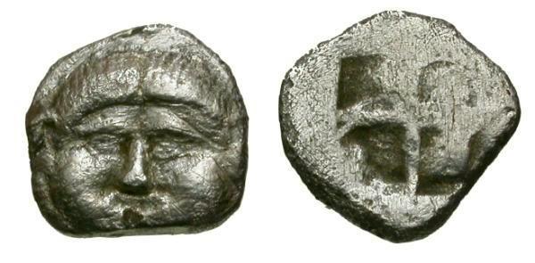 Ancient Coins - Thraco-Macedonian region Pangaean District, Neapolis AR Obol / Gorgoneion