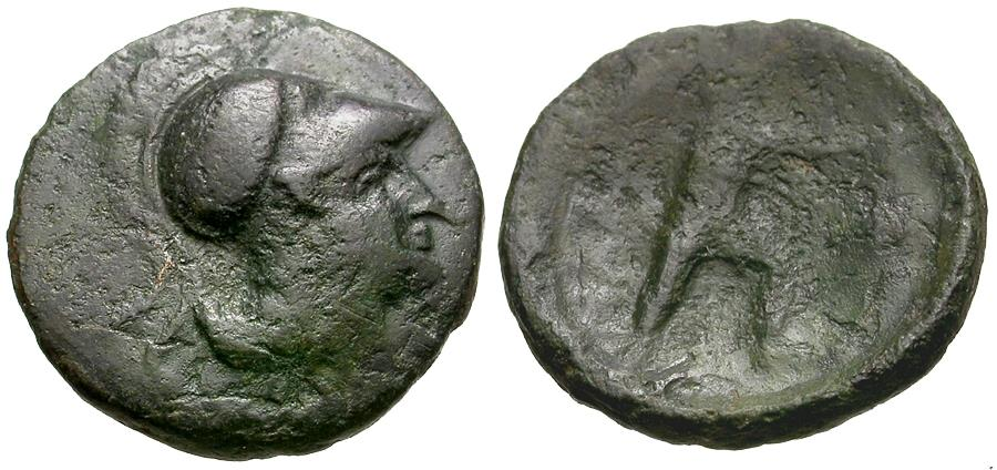 Ancient Coins - Thessaly. Lamia. The Maliens Æ14 / Philoktetes