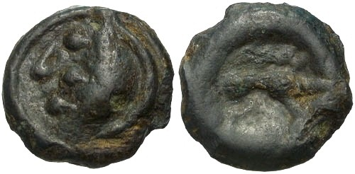 Ancient Coins - VF/VF Aulerci Eburovices Tribe Potin / Boar R