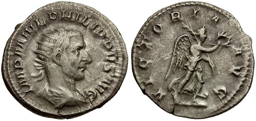 Ancient Coins - Philip I AR Antoninianus / Victory