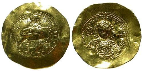 Ancient Coins - Constantine IX Gold Histamenon