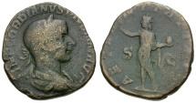 Gordian III Æ Sestertius / Sol