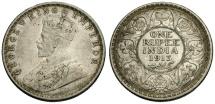 World Coins - India.  George V AR One Rupee