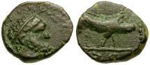 Ancient Coins - Trajan Æ Quadrans / Boar
