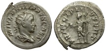 Ancient Coins - Philip II as Caesar AR Antoninianus / Philip Holding Globe and Sceptre