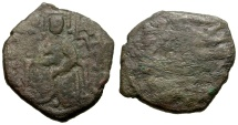 Ancient Coins - Norman Kings of Sicily, Roger II Æ 1/2 Follaro