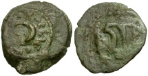 Ancient Coins - Judaea. Herodians. Herod I The Great Æ Two Prutot