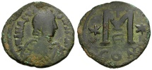 Ancient Coins - Byzantine Empire.  Anastasius I Æ Follis