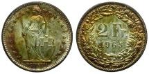 World Coins - Switzerland AR 2 Francs