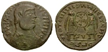Ancient Coins - Magnentius.  Imitative Æ Centenionalis / Two Victories