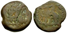 Ancient Coins - Ptolemaic Kings of Egypt.  Ptolemy VI Philometor Æ20 / Two Eagles