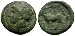 Ancient Coins - Thrace, Aigospotamoi Æ16 / Demeter / Goat
