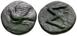 Ancient Coins - Peloponnesos. Sikyonia. Sikyon Æ12 / Dove