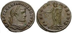 Ancient Coins - EF/EF Maximinus as Caesar Æ Follis / Genius