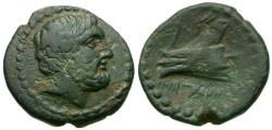 Ancient Coins - Phoenicia. Arados Æ15 / Ram of Galley