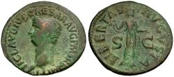 Ancient Coins - Claudius Æ AS / Libertas