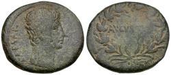 Ancient Coins - Augustus (27 BC-AD 14). Asia Minor. Uncertain mint Æ25 / AVGVSTVS in Wreath