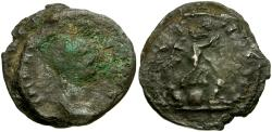 Ancient Coins - Two Antoninianii of Aurelian and Gallienus fused together from a Hoard