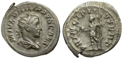 Ancient Coins - Philip II as Caesar AR Antoninianus / Philip Holding Globe and Sceptre