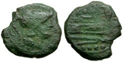 Ancient Coins - 211 BC - Roman Republic.  Anonymous Æ Triens