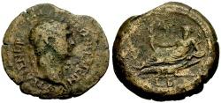Ancient Coins - Trajan, Egypt Alexandria Æ Drachm / Nilus Reclining