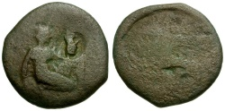 Ancient Coins - Tauric Chersonesos.  Chersonesos Æ20 / Artemis Kneeling / Griffin