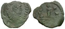 Ancient Coins - Byzantine Empire. Justinian I Æ Decanummium