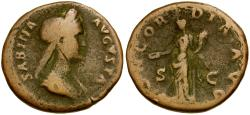 Ancient Coins - Sabina Æ AS / Concordia