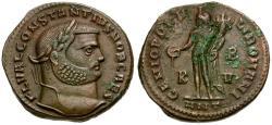 Ancient Coins - Constantius I as Caesar Æ Follis / Genius