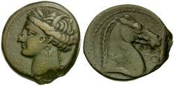 Ancient Coins - Zeugitania. Carthage Æ20 / Horse's Head