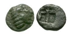 Ancient Coins - Ionia. Kolophon AR Tetartemorion / Apollo