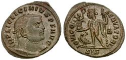 Ancient Coins - Licinius I (AD 308-324) Æ Follis / Jupiter