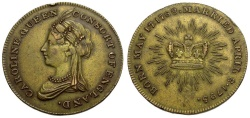 World Coins - Great Britain. Medlet Commemorating Marriage of the Prince of Wales to Caroline of Brunswick