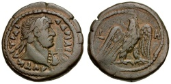 Ancient Coins - Hadrian. Egypt. Alexandria Billon Tetradrachm / Eagle