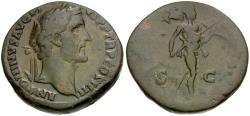 Ancient Coins - Antoninus Pius (AD 138-161) Æ Sestertius / Mars