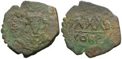 Ancient Coins - *Sear 641* Byzantine Empire. Phocas (AD 602-610) Æ Three Quarter Follis