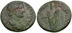 Ancient Coins - Antoninus Pius (AD 138-161). Lydia. Sala. G Vale Androneikos, magistrate Æ20 / Zeus