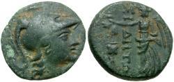 Ancient Coins - Pamphylia. Side Æ15 / Athena