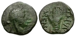 Ancient Coins - Ionia. Smyrna Æ12 / Hand in Caestus
