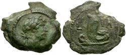 Ancient Coins - Hadrian (AD 117-138). Egypt. Alexandria Ӕ Dichalkon / Uraeus