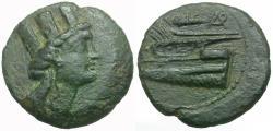 Ancient Coins - Phoenicia. Arados Æ16 / Prow