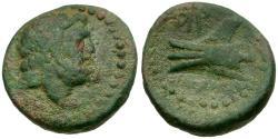 Ancient Coins - Phoenicia. Arados Æ16 / Ram of Galley