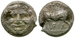 Ancient Coins - Mysia. Parion Fouree Hemidrachm / Gorgon