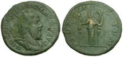 Ancient Coins - Postumus Æ Double Sestertius / Fides