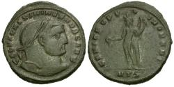 Ancient Coins - Galerius as Casear Æ30 Follis / Genius