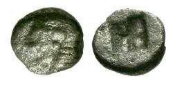 Ancient Coins - aVF/aVF Ionia, Kolophon AR Tetartemorion / Female head