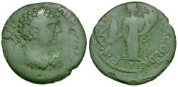 Ancient Coins - Geta as Caesar (AD 198-209). Pisidia. Antioch Æ21 / Tyche