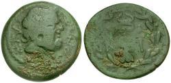Ancient Coins - Peloponnesos. Lakonia (Sparta) Æ24 / Club-Caduceus