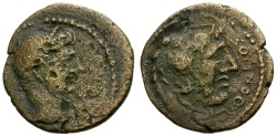 Ancient Coins - gF+/gF+ Augustus, Islands of Caria, Kos Æ15 / Herakles